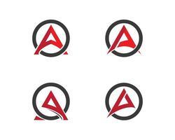 un conjunto de logotipo de letra vector