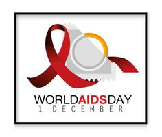 Red ribbon and condom for world AIDS day