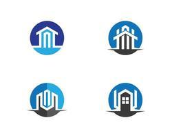 Set of real estate logo images