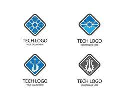 conjunto de logotipos de tecnología vector
