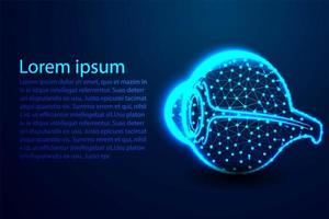 Glowing human eye design  vector