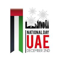 UAE banner with flag to celebrate the national day
