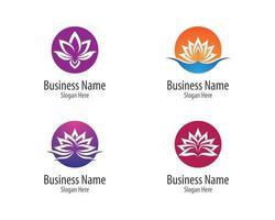 ensemble de logo de fleur de beauté