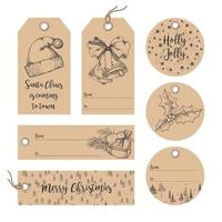 Christmas tag collection vector
