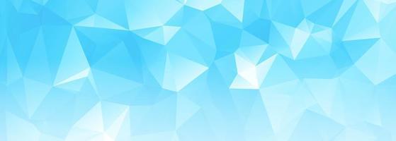 Modern light blue polygon banner  vector