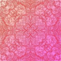 Ethnic decorative floral pattern pink background