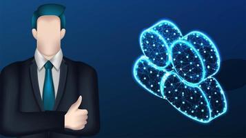 zakenman en digitale mensen pictogram ontwerp. vector