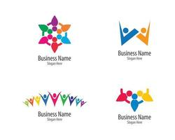 comunidad logo se vector