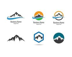 conjunto de logotipo de montaña