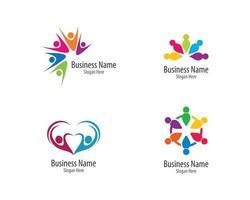 ensemble de logo communautaire vecteur