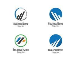 conjunto de logotipo de finanças de negócios vetor