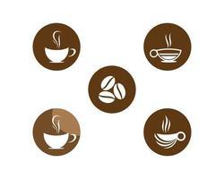 conjunto de logotipo de café vector