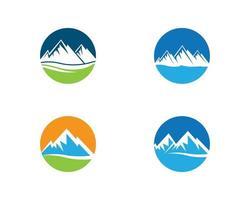 Mountain logo set