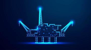 Offshore oil rig in ocean design vector