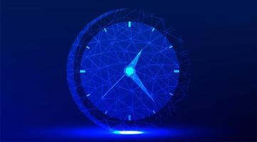 reloj de pared de oficina diseño abstracto brillante vector