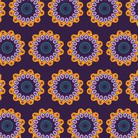 Mandala flowers and ornamental decoration background vector