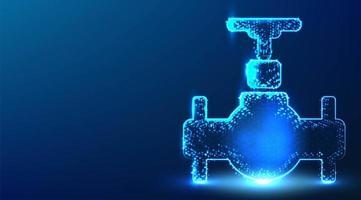 Oil pipeline industrial factory glowing blue design. vector