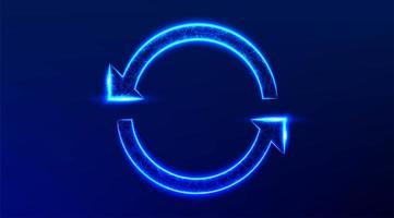 Arrows in a round rotating circular design. vector