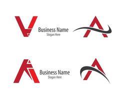 un diseño de conjunto de logotipos de letras vector