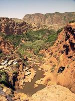 Moroccan river landscape photo