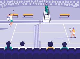 cena de quadra de tênis