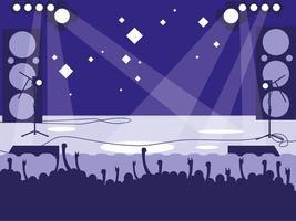 Stadium with rock concert