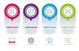 infografía con iconos de negocios