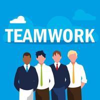 Teamwork with business men elegant