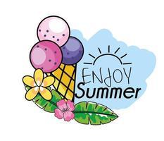 Enjoy summer design with ice cream  vector