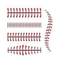 conjunto de diseño de puntadas de béisbol vector