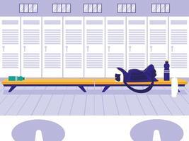 lugar con casillero de gimnasio deportivo vector