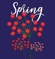 Beautiful spring flowers card vector