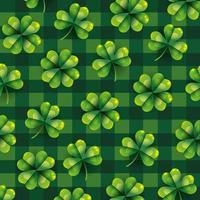 Clover leaves pattern background vector