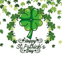 St. Patrick day design with clovers
