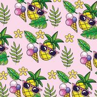 fondo de patrón divertido tropical