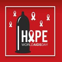 World AIDS day prevention banner vector