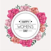 pegatina circular para la celebración del día de la mujer
