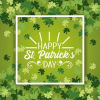 St. Patricks clover leaves pattern background vector