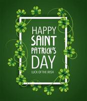 St. Patrick day lettering banner