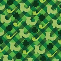 S t. patrick day elementos patrón de fondo