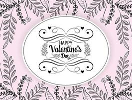 Bohemian Valentines day greeting card