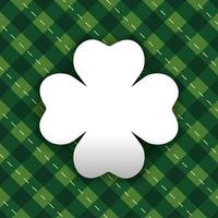 Clover label on a plaid background vector