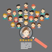 Recruiting concept on human resources vector