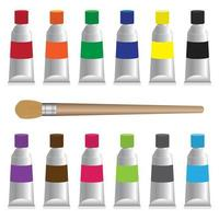 Painting and art materials icon set vector
