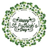 St. Patrick day round sticker with clovers