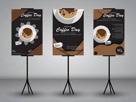 pancarta de pie para café vector