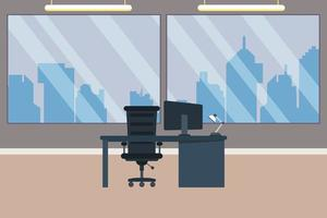 Modern business office and workspace interior  vector