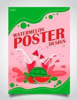Poster for watermelon juice vector
