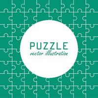 Puzzle pattern background vector