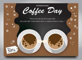 cartel para el día del café